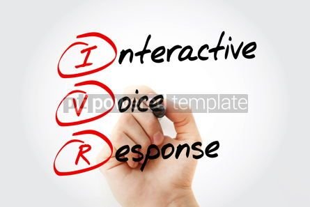 Education: IVR - Interactive Voice Response acronym business concept with  #10686