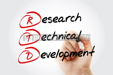 Education: RTD - Research Technical Development acronym with marker concep #10687