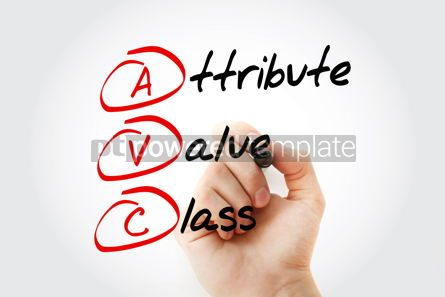 Education: Hand writing Attribute Value Class with marker concept backgrou #10689