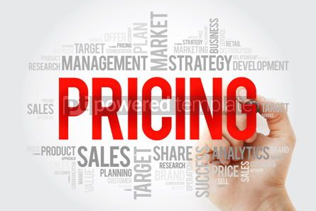 Business: Pricing word cloud with marker business concept background #10694