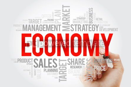 Business: ECONOMY word cloud with marker business concept background #10695