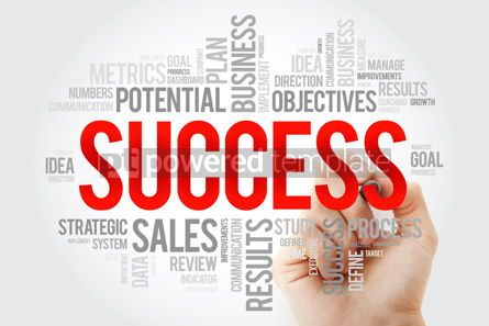 Business: Success word cloud collage with marker business concept backgro #10700