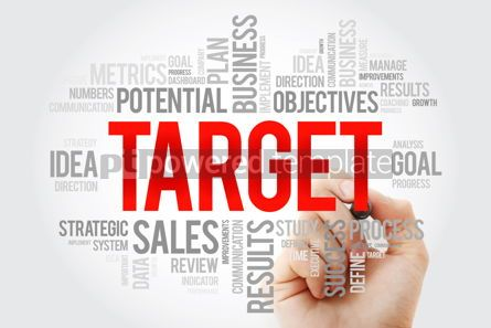 Business: Word Cloud with Target related tags with marker business concep #10702