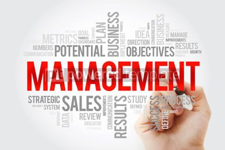 Business: MANAGEMENT word cloud collage with marker business concept back #10704