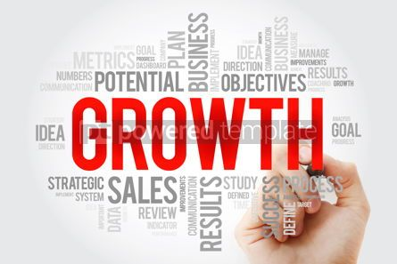 Business: Growth word cloud with marker business concept #10706