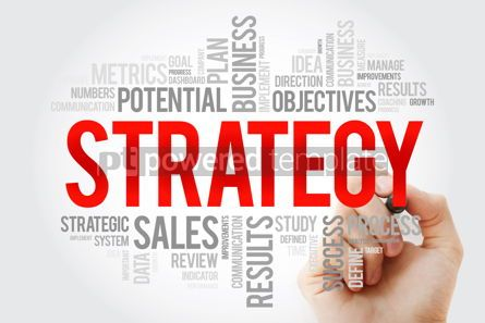 Business: Strategy word cloud with marker business concept #10707