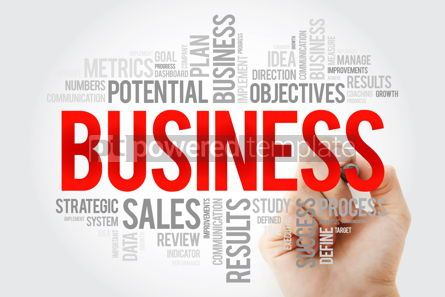 Business: Business word cloud with marker business concept background #10708