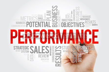 Business: PERFORMANCE word cloud with marker business concept background #10714