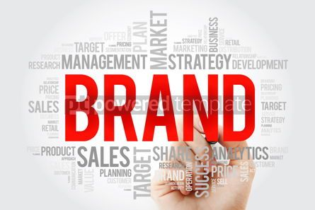 Business: BRAND word cloud collage with marker business concept backgroun #10719