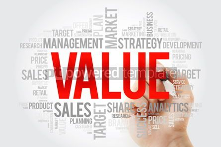 Business: VALUE word cloud collage with marker business concept backgroun #10722