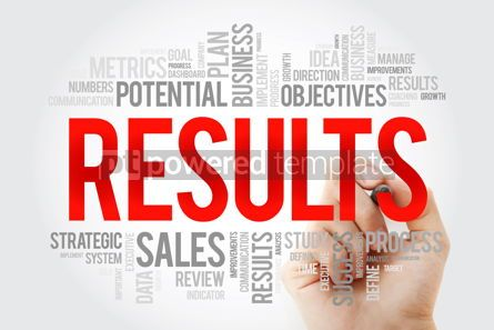 Business: Results word cloud with marker business concept #10723
