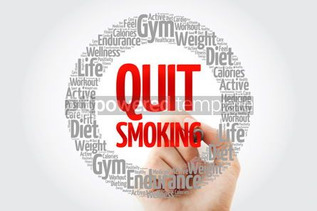 Health: Quit Smoking word cloud collage with marker health concept back #10731