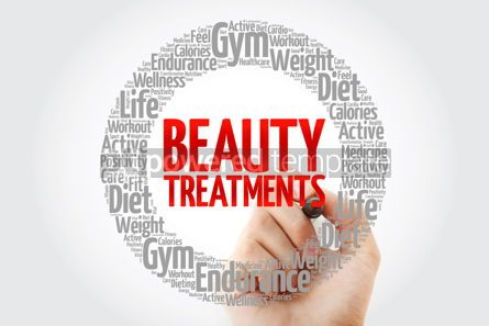 Health: Beauty Treatments word cloud collage with marker health concept #10732