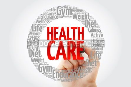 Health: Health care word cloud collage with marker health concept backg #10739