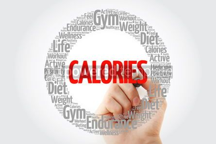 Health: CALORIES circle stamp word cloud fitness sport health concept #10755
