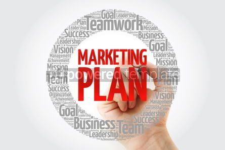 Business: Marketing Plan circle word cloud with marker business concept #10786
