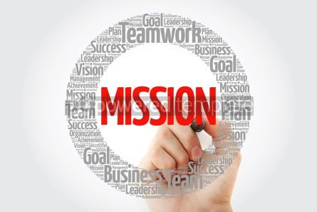 Business: MISSION word cloud with marker business concept background #10788