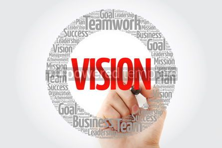 Business: VISION word cloud with marker business concept #10789