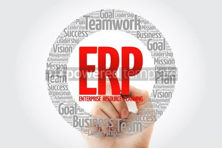 Business: ERP - Enterprise Resource Planning word cloud with marker busin #10790