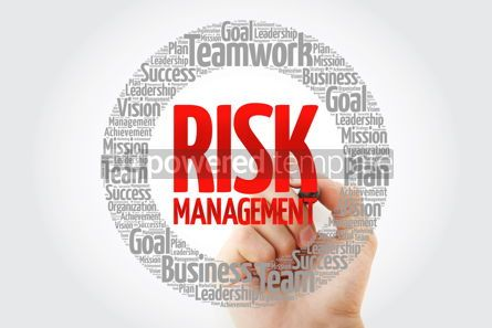 Business: Risk Management word cloud with marker business concept backgro #10792