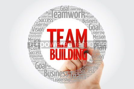 Business: TEAM BUILDING word cloud with marker business concept #10794