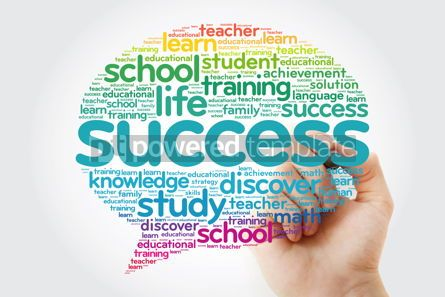 Business: Success Think Bubble word cloud with marker business concept #10796