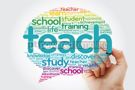 Business: TEACH Think Bubble word cloud with marker #10797