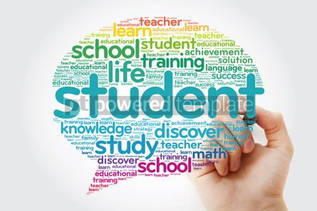 Business: STUDENT Think Bubble word cloud with marker education concept #10799
