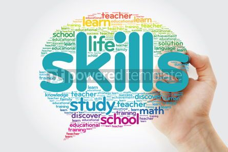 Business: SKILLS Think Bubble word cloud with marker education concept #10800