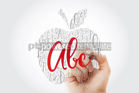 Business: Apple made of alphabet letters with marker education word cloud #10804
