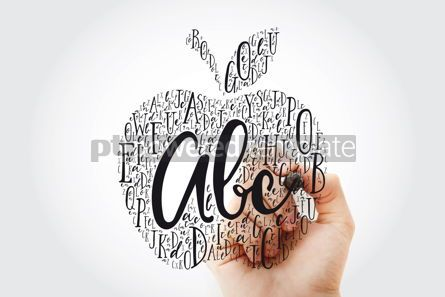 Business: Apple made of alphabet letters with marker education word cloud #10805