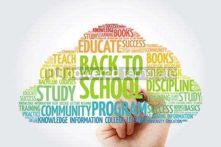 Business: Back to School word cloud collage with marker education concept #10806