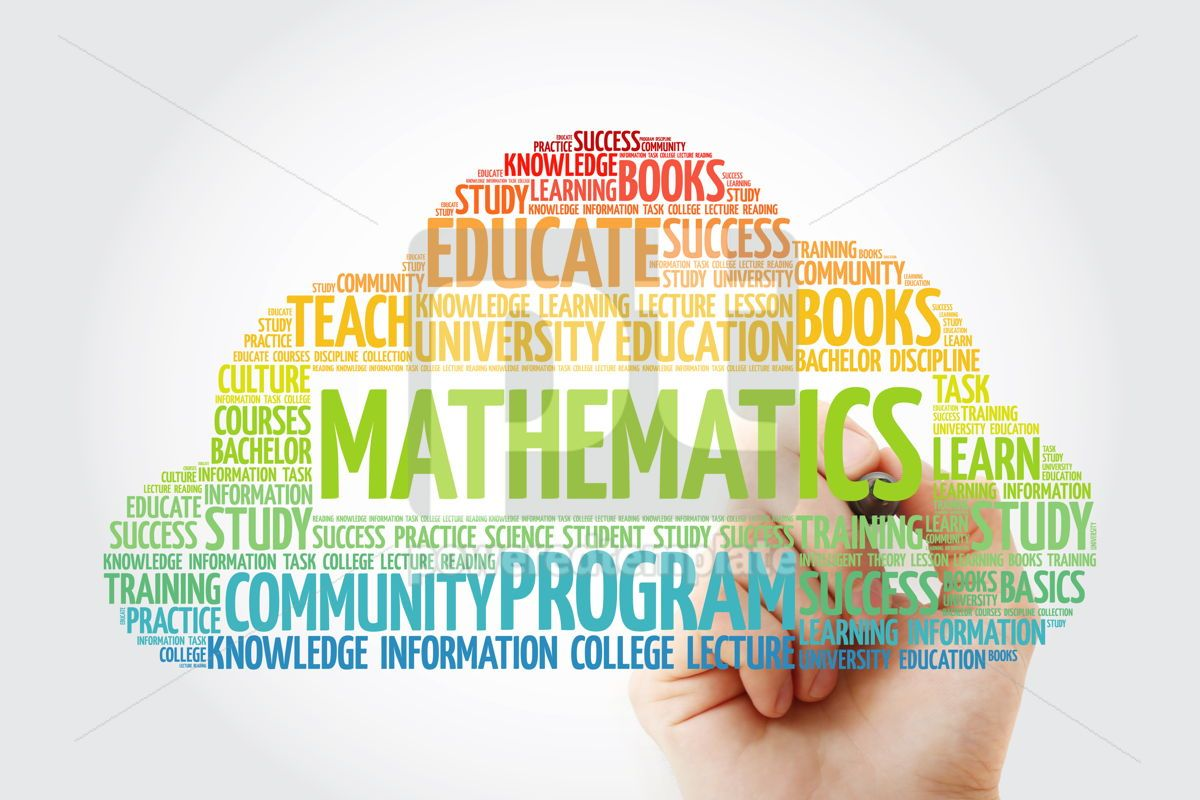Mathematics word cloud collage with marker education concept ba, 10807, Business — PoweredTemplate.com