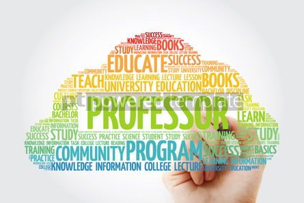 Business: Professor word cloud collage with marker education concept back #10808