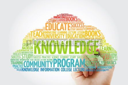Business: KNOWLEDGE word cloud collage with marker education concept back #10811