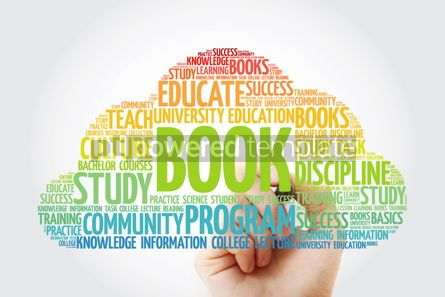Business: BOOK word cloud collage with marker education concept backgroun #10828