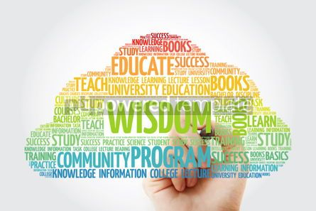Business: Wisdom word cloud collage with marker education concept backgro #10829