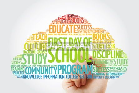 Business: First day of school word cloud collage with marker education co #10831