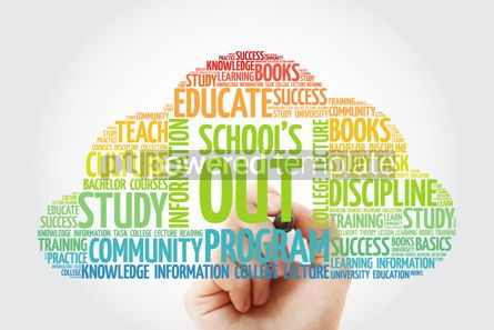 Business: School's Out word cloud with marker education concept backgroun #10833