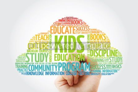 Business: Kids Education word cloud collage with marker education concept #10835