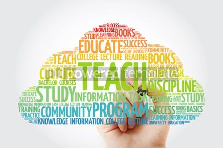 Business: TEACH word cloud with marker education concept background #10837