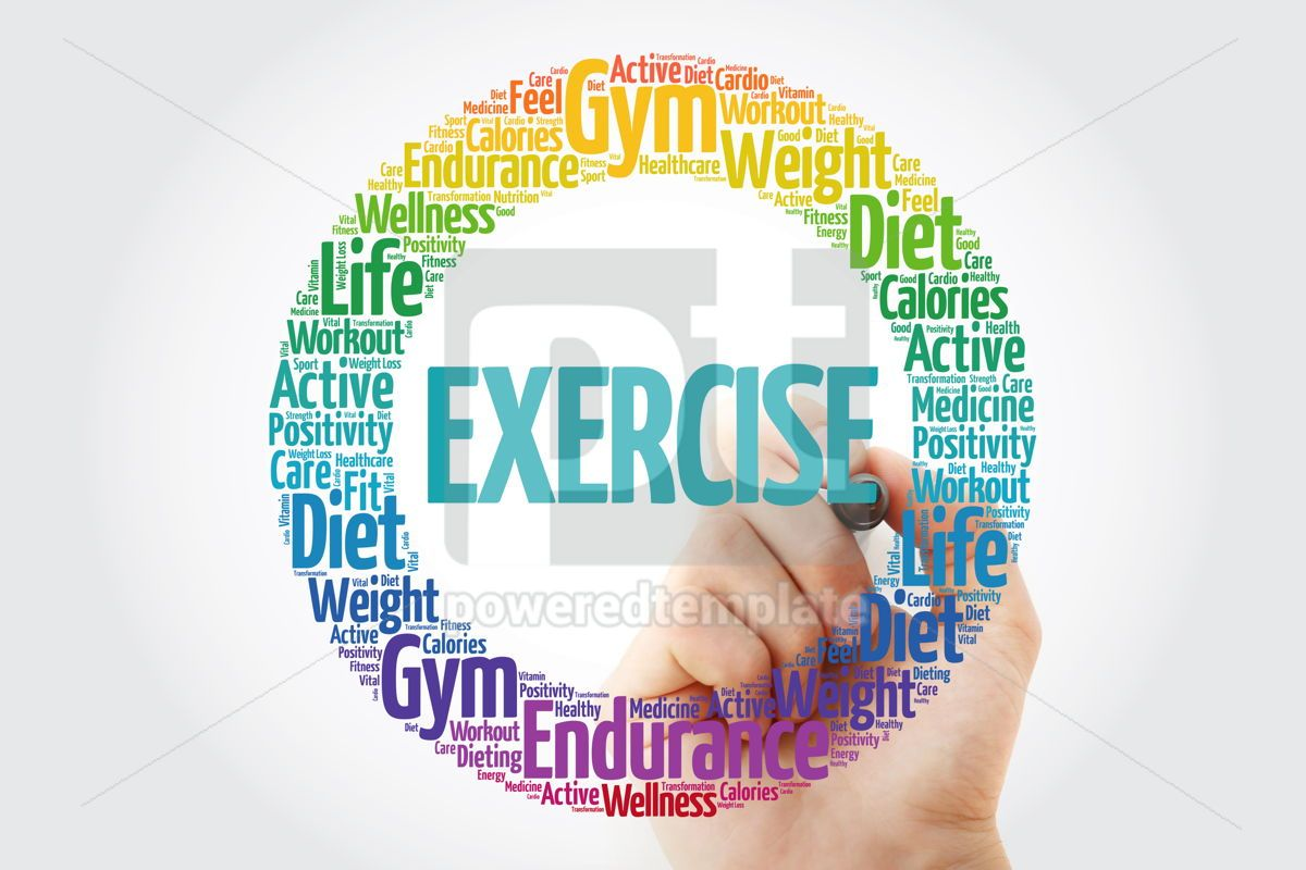 Exercise Word Cloud With Marker Fitness Sport Health Concept Stock Photo 66820