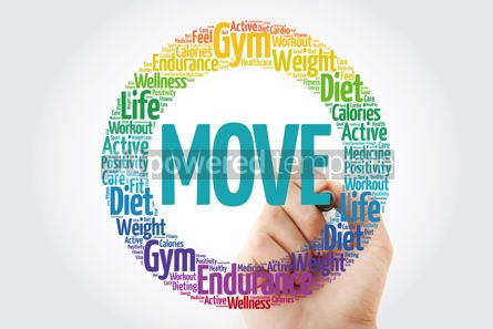 Health: MOVE word cloud with marker fitness sport health concept #10848