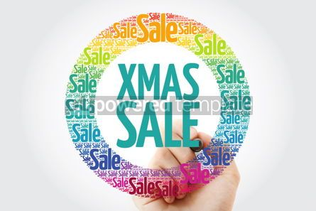 Business: XMAS SALE circle word cloud with marker business concept backgr #10885