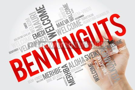 Business: Benvinguts (Welcome in Catalan) word cloud in different language #10889