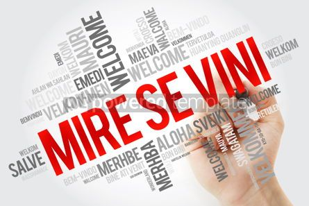 Business: Mire se vini (Welcome in Albanian) word cloud in different langu #10894