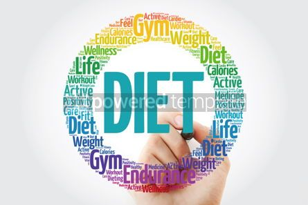 Health: Diet circle stamp word cloud with marker health concept #10902