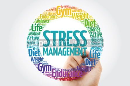 Health: Stress Management word cloud collage with marker health concept #10907
