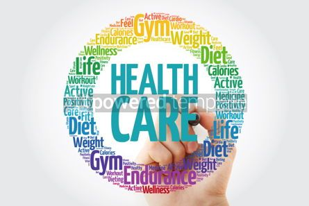 Health: Healthcare word cloud collage with marker health concept backgr #10910