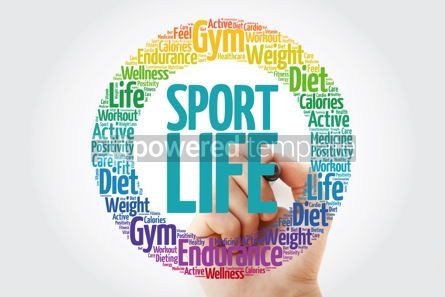 Health: Sport Life word cloud with marker health concept background #10911